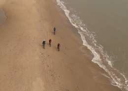 drone view of beach