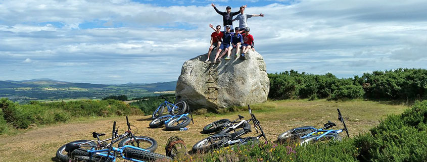 bikers on rock